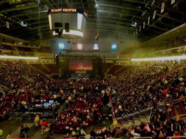 Giant Center, section: 102A, row: 1, seat: 10