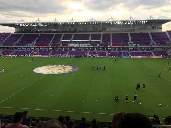 Exploria Stadium, section: 133, row: L, seat: 2