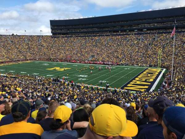 Michigan Stadium, section: 18, row: 62, seat: 7