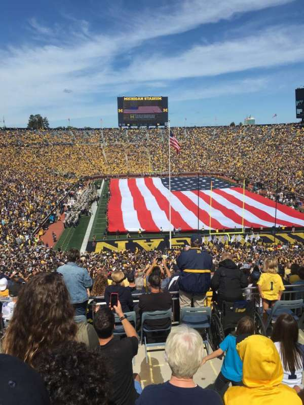 Michigan Stadium, section: 13, row: 79, seat: 3