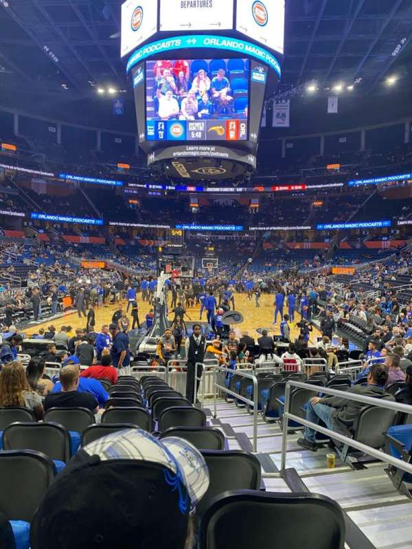 Amway Center, section: 101, row: 8, seat: 2