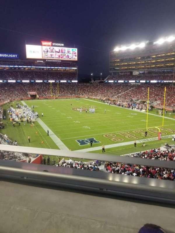 Levi's stadium , section: 206, row: 1, seat: 28
