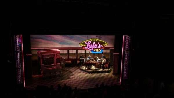 Brooks Atkinson Theatre, section: Rear Mezzanine LC, row: E, seat: 116
