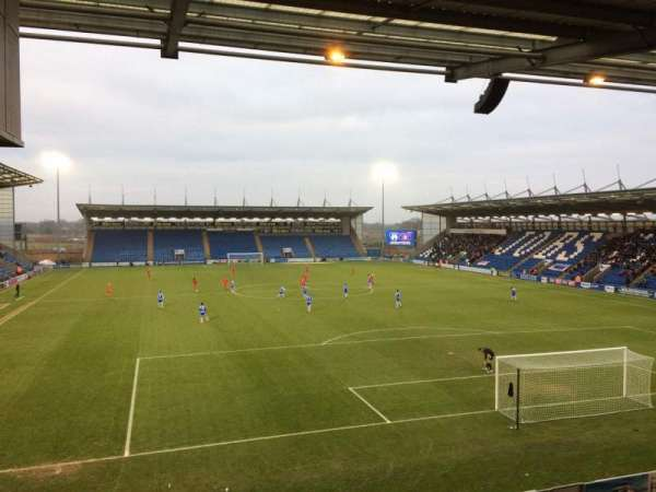 Colchester Community Stadium, section: S4, row: T, seat: 112