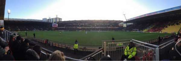 Vicarage Road, section: WCS5, row: B, seat: 148