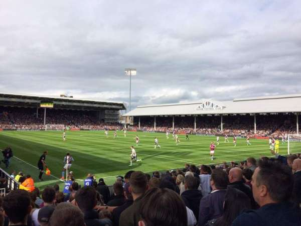 Craven Cottage, section: P7, row: O, seat: 155