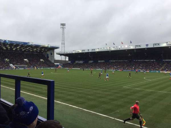 Fratton Park, section: MMD, row: BB, seat: 69