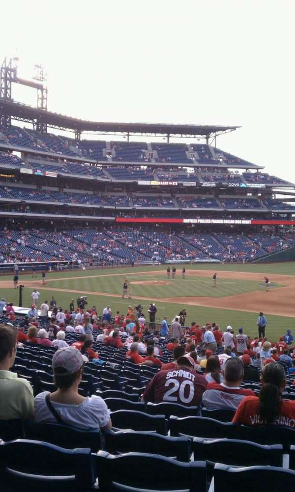 Citizens Bank Park, section: 113, row: 33, seat: 15
