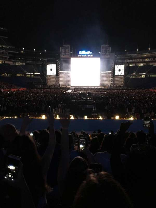 Gillette Stadium, section: 143, row: 17, seat: 10