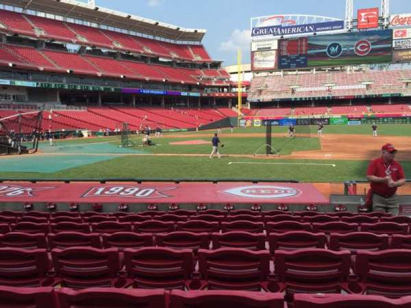 Great American Ball Park, section: 130, row: M, seat: 5