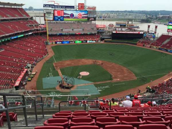 Great American Ball Park, section: 527, row: K, seat: 22