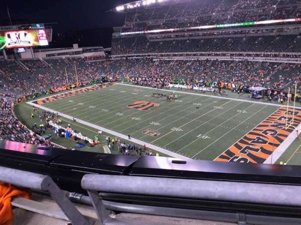 Paul Brown Stadium, section: 334, row: 1, seat: 7