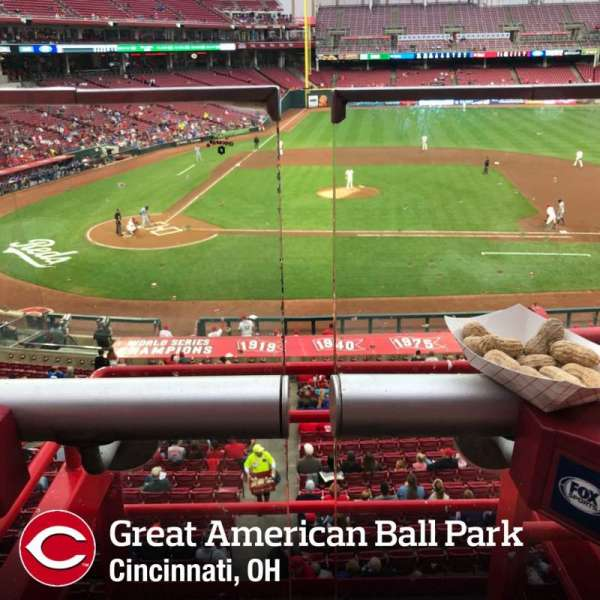 Great American Ball Park, section: 301, row: A, seat: 2