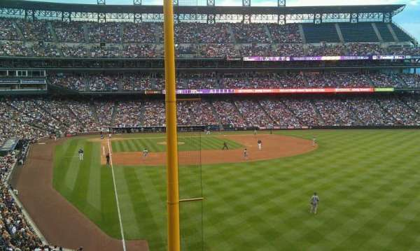 Coors Field, section: 208, row: 2, seat: 13