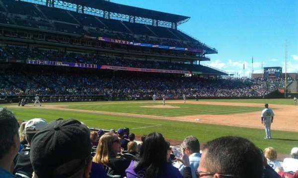 Coors Field, section: 120, row: 9, seat: 9