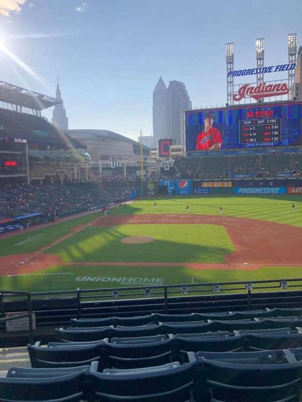 Progressive Field, section: 344, row: F, seat: 9