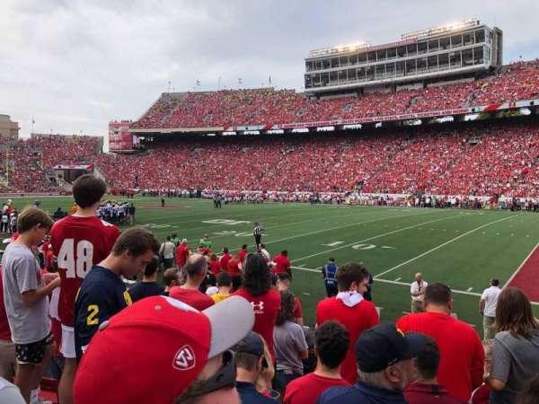 Camp Randall Stadium, section: Q, row: 15, seat: 8