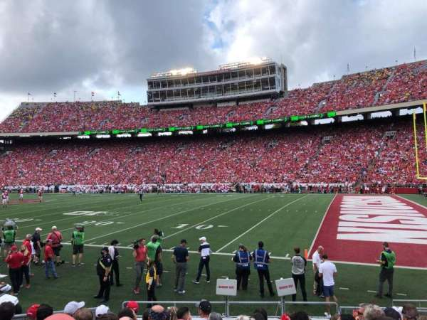Camp Randall Stadium, section: Q, row: 15, seat: 7