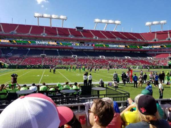 Raymond James Stadium, section: 133, row: D, seat: 5