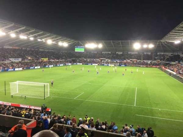 Liberty Stadium, section: North Upper 4, row: O, seat: 61