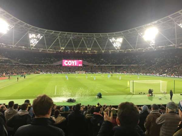 London Stadium, section: 119, row: 19, seat: 81