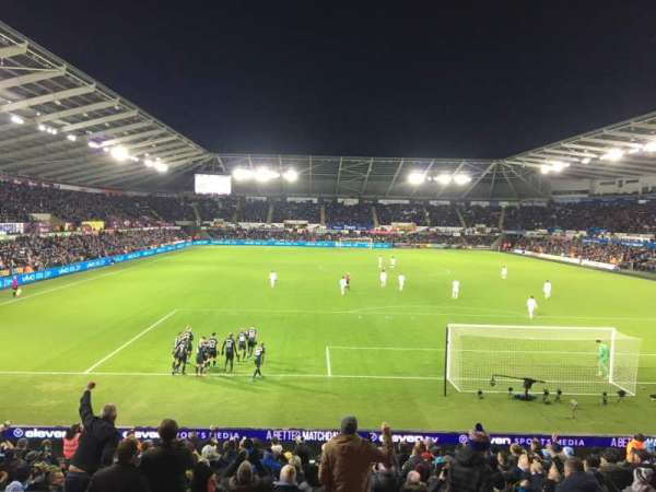 Liberty Stadium, section: North Upper 6, row: M, seat: 118