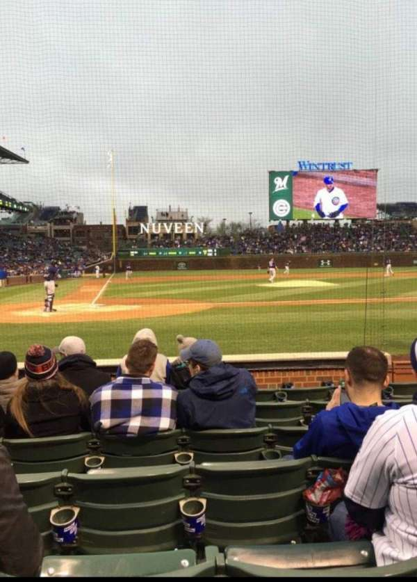 Wrigley Field, section: 22, row: 12, seat: 4