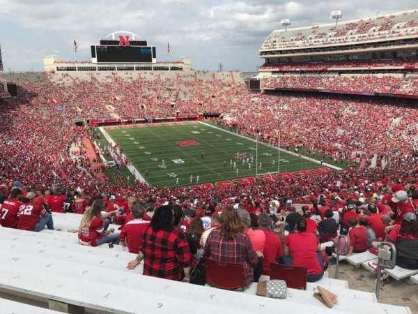 Memorial Stadium (Lincoln), section: 18, row: 96, seat: 5
