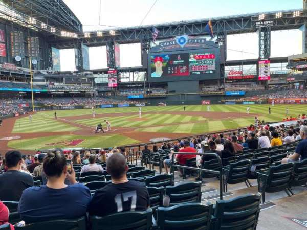 Chase Field, section: 120, row: 21, seat: 3