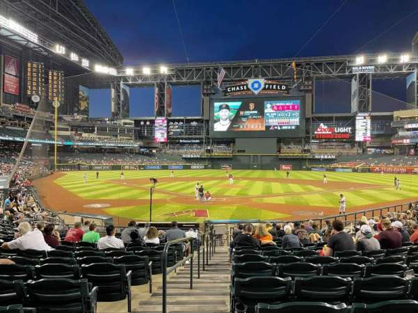 Chase Field, section: 121, row: 21, seat: 9