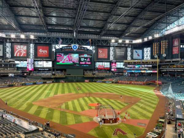 Chase Field, section: 210G, row: 1, seat: 75