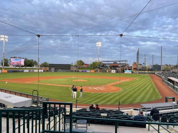 Scottsdale Stadium, section: 201, row: M, seat: 9