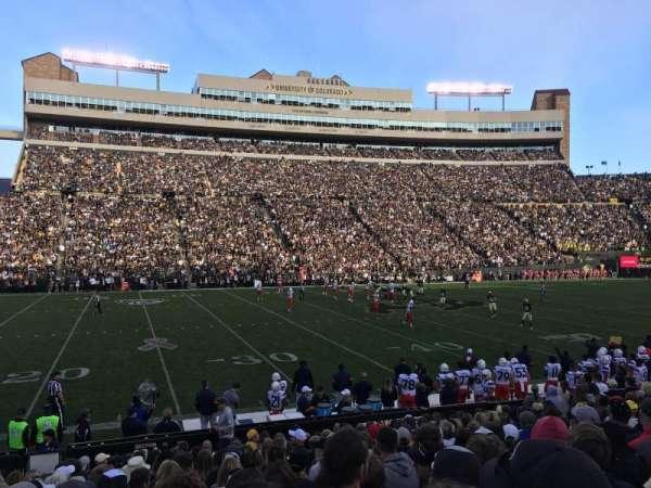 Folsom Field, section: 104, row: 18, seat: 16