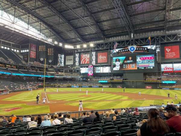 Chase Field, section: 118, row: 21, seat: 19