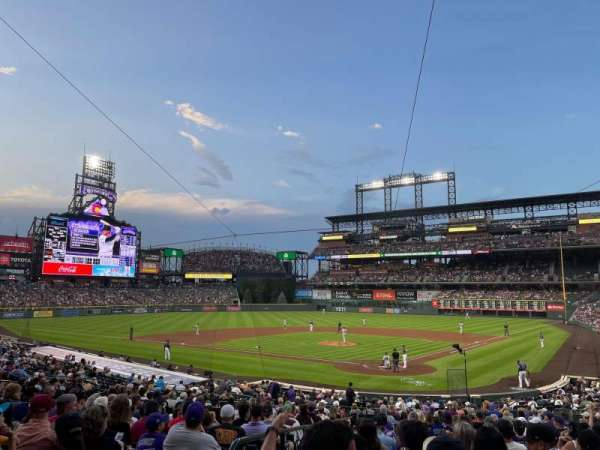 Coors Field, section: 132, row: 29, seat: 11