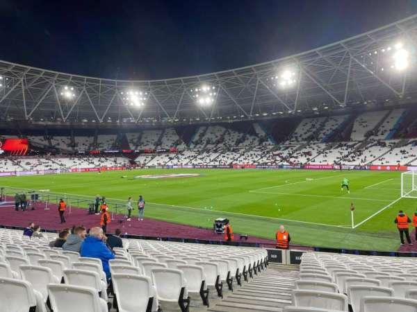 London Stadium, section: 113, row: 17, seat: 191