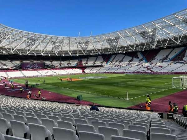 London Stadium, section: 114, row: 20, seat: 173