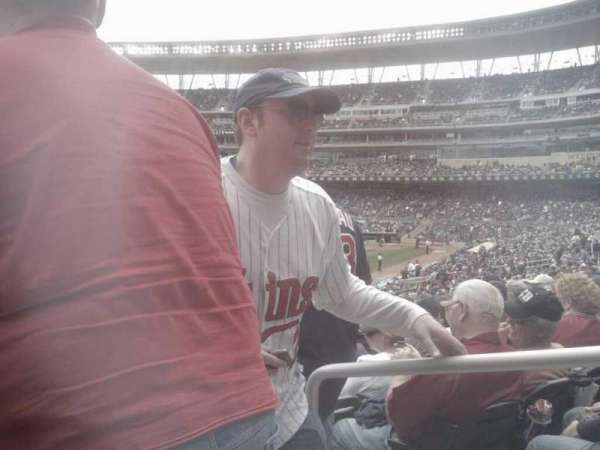 Target Field, section: 126, row: 25, seat: 1