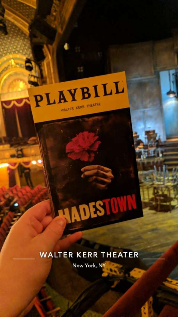 Walter Kerr Theatre, section: Box A, seat: 3
