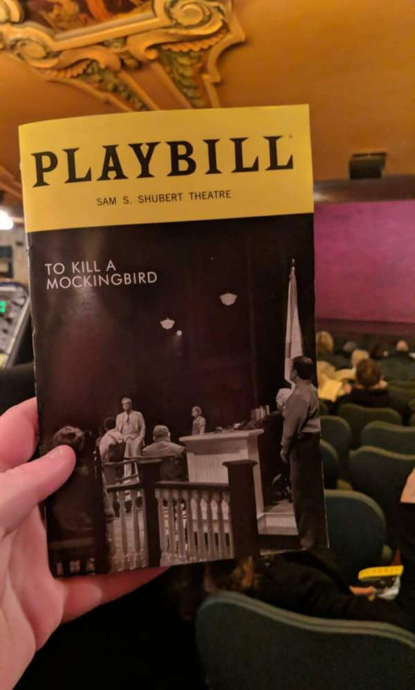 Shubert Theatre, section: Standing Room, seat: 105