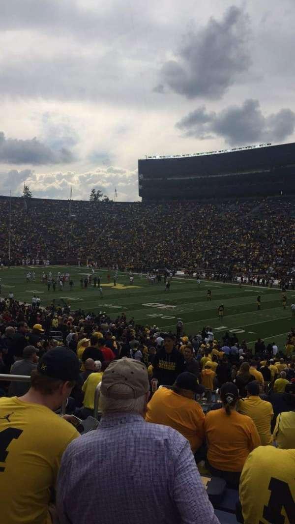 Michigan Stadium, section: 40, row: 36, seat: 14