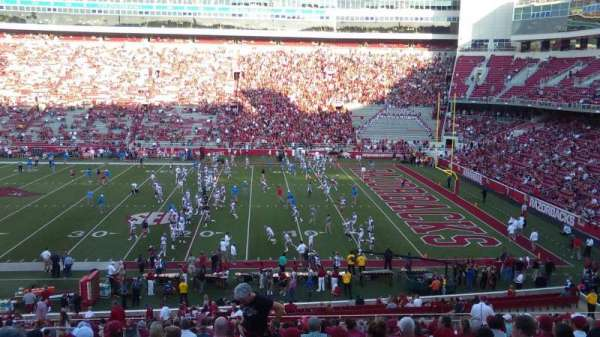 Razorback Stadium, section: 102, row: 35, seat: 41