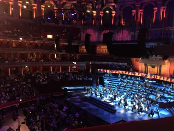 Royal Albert Hall, section: Second tier 64, seat: 1 and 2