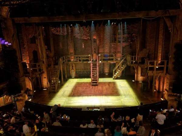 RICHARD RODGERS THEATRE, section: Front mezzanine center, row: A