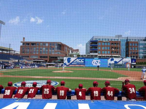 Durham Bulls Athletic Park, section: 110, row: E, seat: 108
