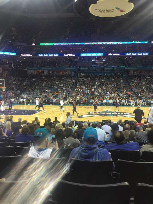 Spectrum Center, section: 105, row: I, seat: 15