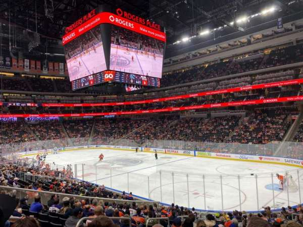 Rogers Place, section: 132, row: 19, seat: 16