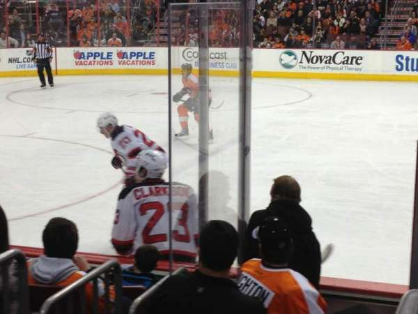 Wells Fargo Center, section: 124, row: 7, seat: 9