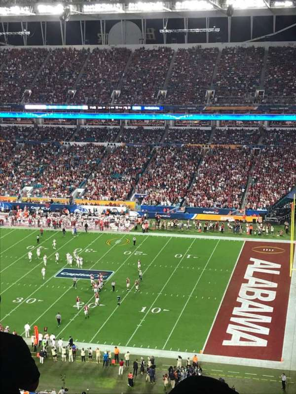 Hard Rock Stadium, section: 343, row: 23, seat: 1