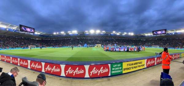 King Power Stadium, section: J1, row: A, seat: 203